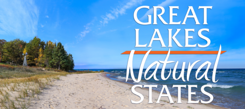 Title banner showing a sandy Great Lakes beach